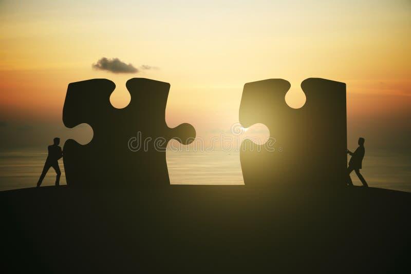 Nascer do sol do conceito da parceria imagem de stock royalty free