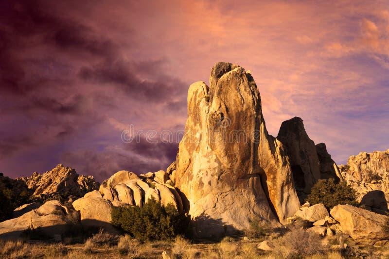 Nascer do sol do deserto fotos de stock royalty free