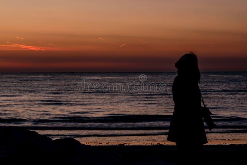 Nascer do sol do fotógrafo fotografia de stock royalty free