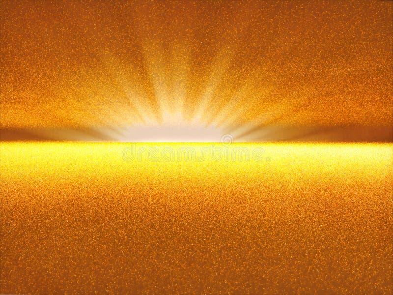 Nascer do sol do Fractal - imagem digitalmente gerada do sumário ilustração royalty free