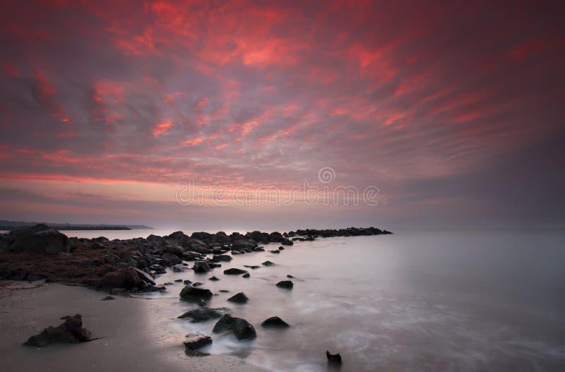 Nascer do sol do mar foto de stock royalty free