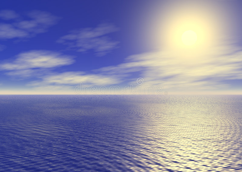 Download Nascer do sol do oceano ilustração stock. Ilustração de alvorecer - 540149