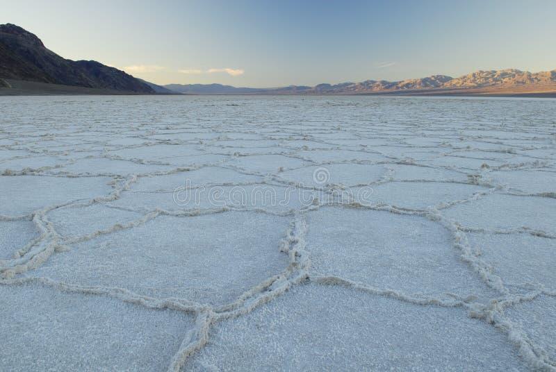 Nascer do sol em Badwater em Death Valley fotografia de stock