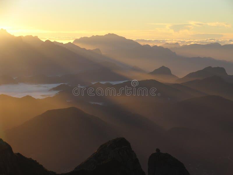 Nascer do sol em Brasil foto de stock
