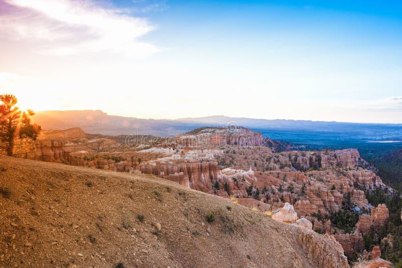 Nascer do sol em Bryce Canyon como visto do ponto do nascer do sol em Bryce Ca foto de stock royalty free