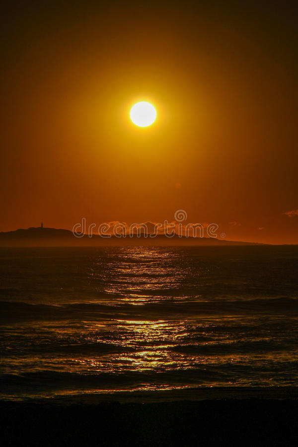 Nascer do sol em Eden, NSW fotos de stock royalty free