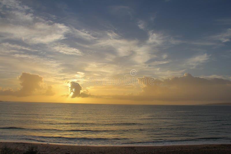 Nascer do sol em Eden, NSW foto de stock
