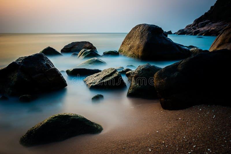 Nascer do sol em Koh Tao fotos de stock royalty free