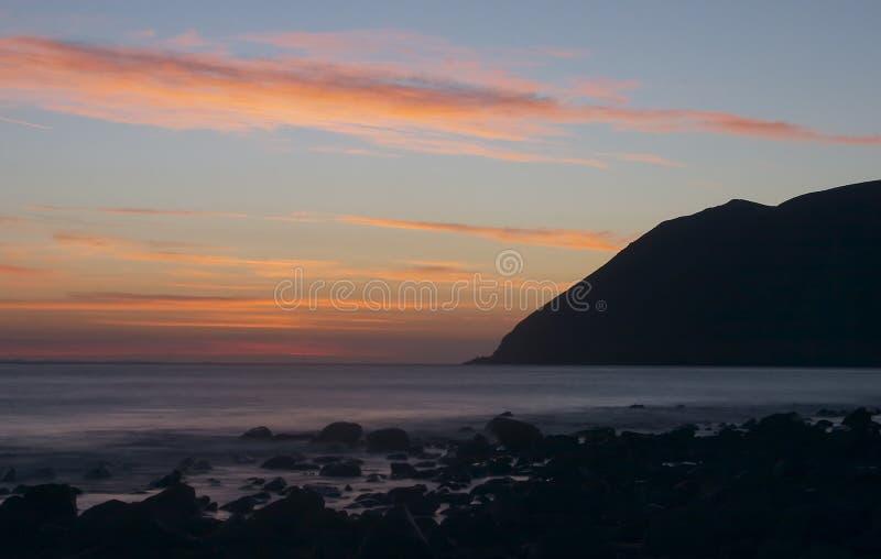 Nascer do sol em Lynmouth foto de stock