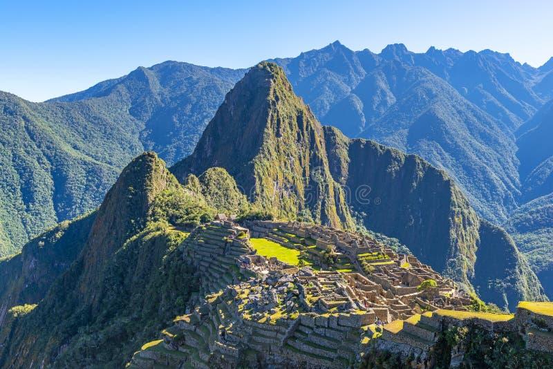Nascer do sol em Machu Picchu, Peru fotografia de stock royalty free