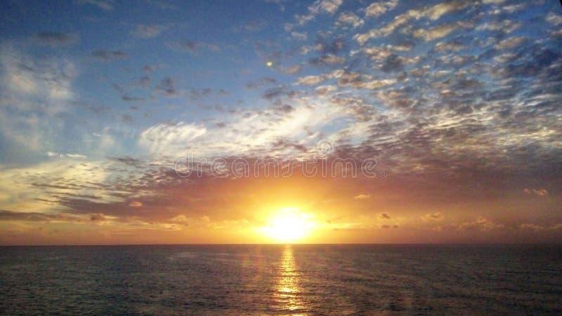 Nascer do sol em Malea Island fotografia de stock royalty free