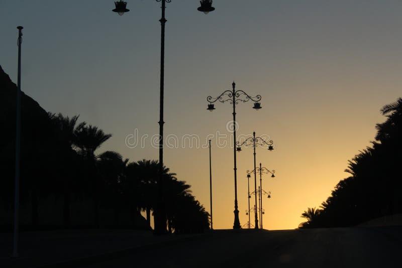 Nascer do sol em Muscat fotos de stock royalty free