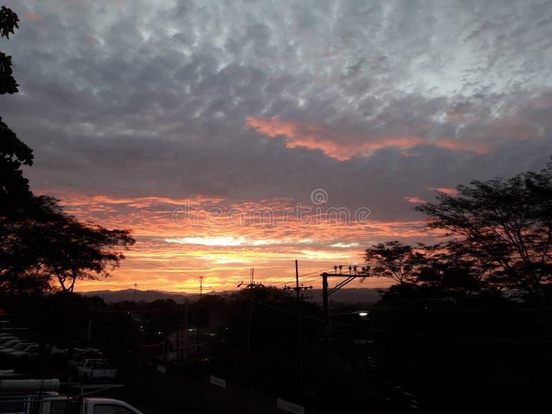 Nascer do sol em San Miguel foto de stock
