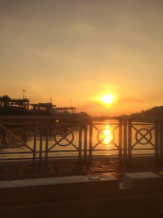 Nascer do sol em Singapura imagens de stock royalty free