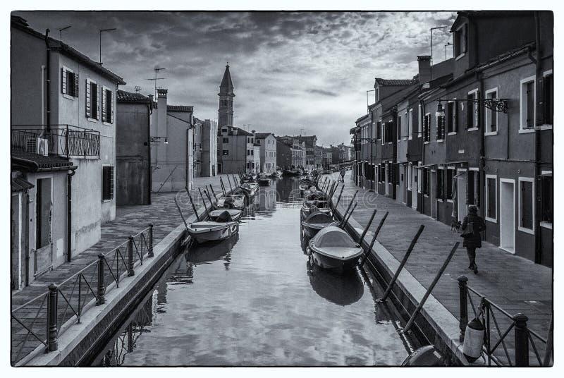 Nascer do sol em Veneza foto de stock