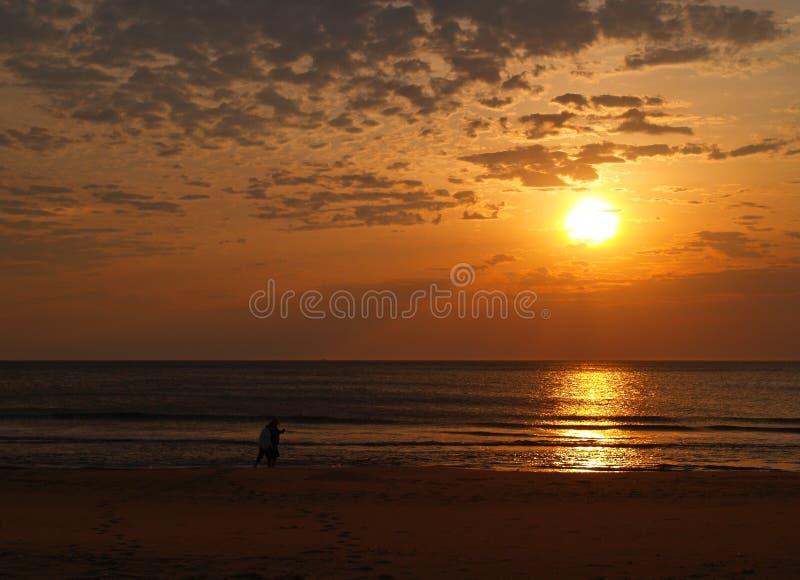 Nascer do sol em Virginia Beach fotografia de stock royalty free