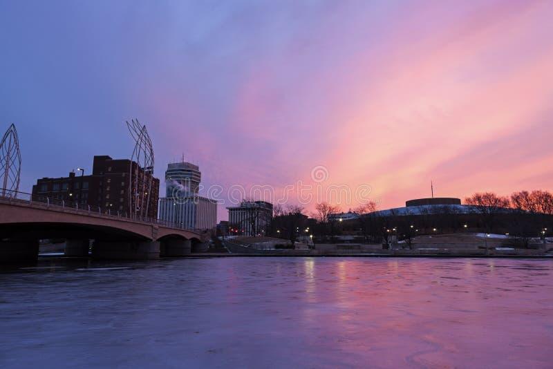 Nascer do sol em Wichita fotografia de stock