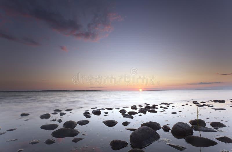 Nascer Do Sol Encantador Sobre O Oceano Fotos de Stock Royalty Free