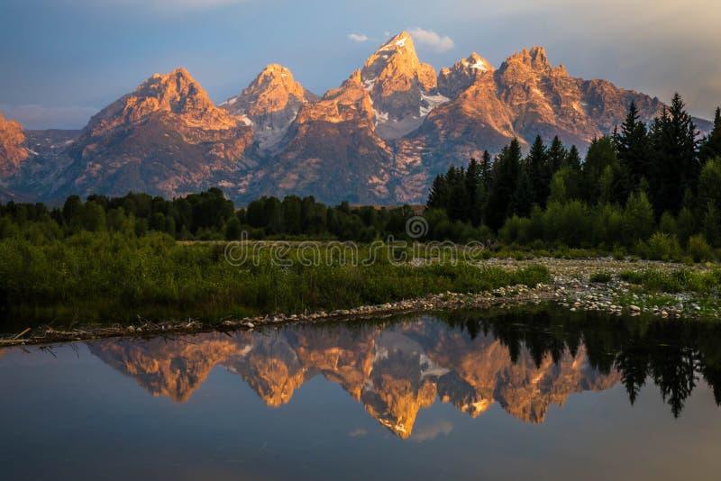 Nascer do sol grande do parque nacional de Teton fotografia de stock royalty free