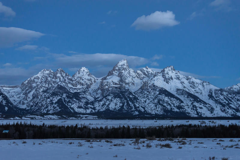 Nascer do sol grande do parque nacional de Teton fotos de stock