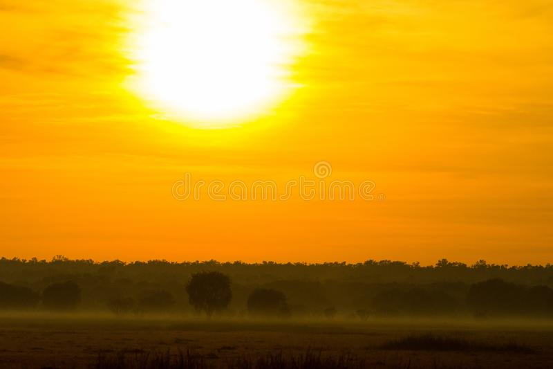 Nascer do sol grande em Kakadu foto de stock
