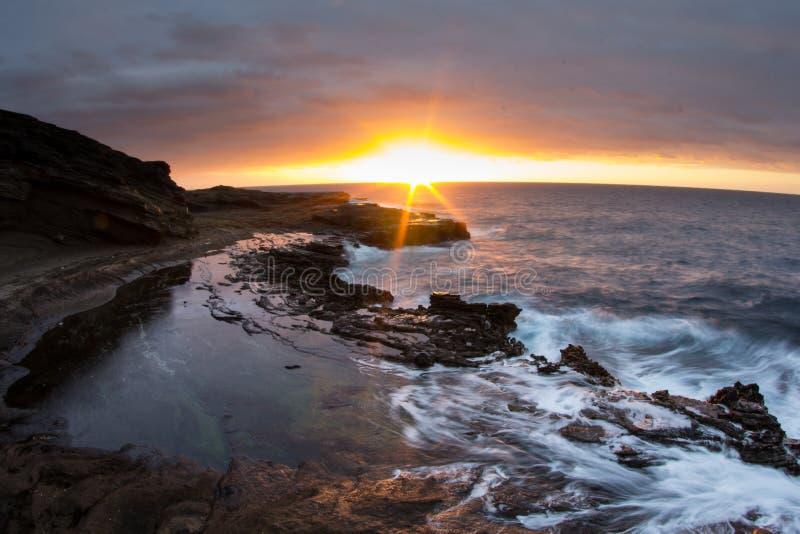 Nascer do sol havaiano imagem de stock royalty free