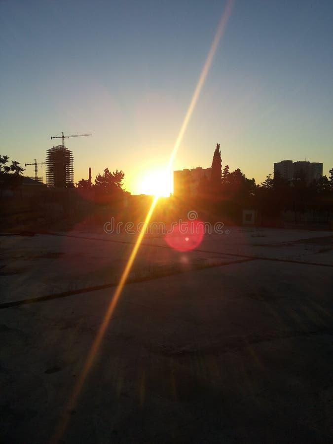 Nascer do sol mágico fotos de stock royalty free