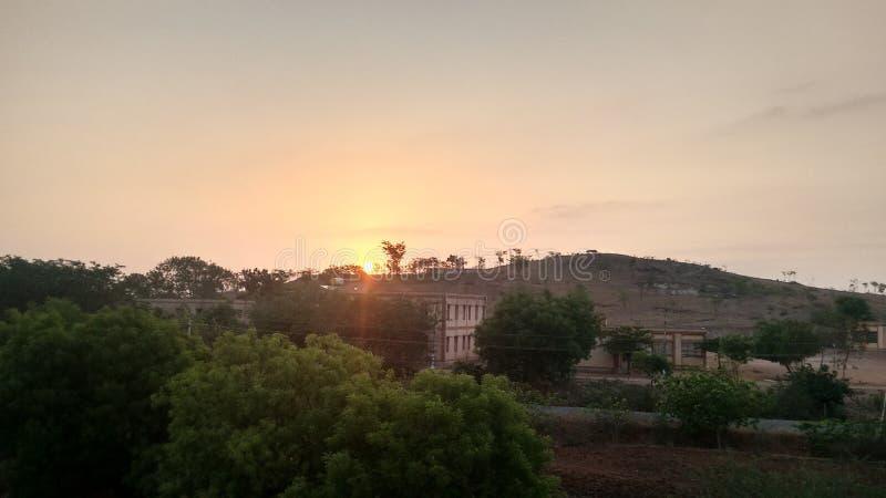 Nascer do sol na Índia sul fotografia de stock royalty free