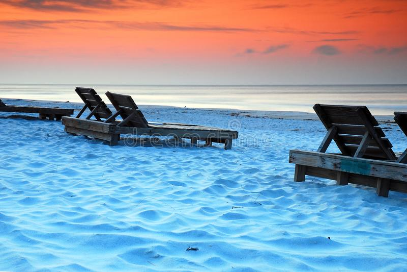 Nascer do sol na costa do golfo fotos de stock
