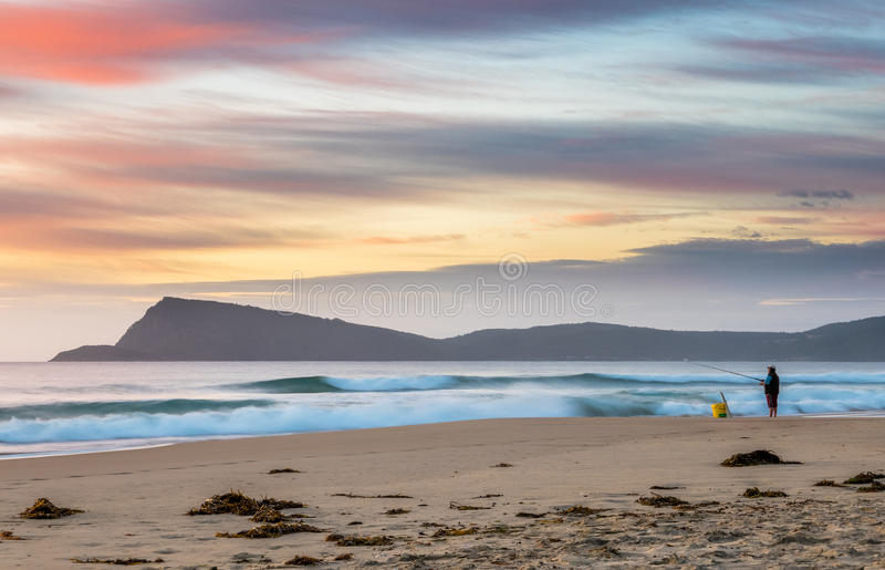 Nascer do sol na ilha de Bruny, Tasmânia fotos de stock