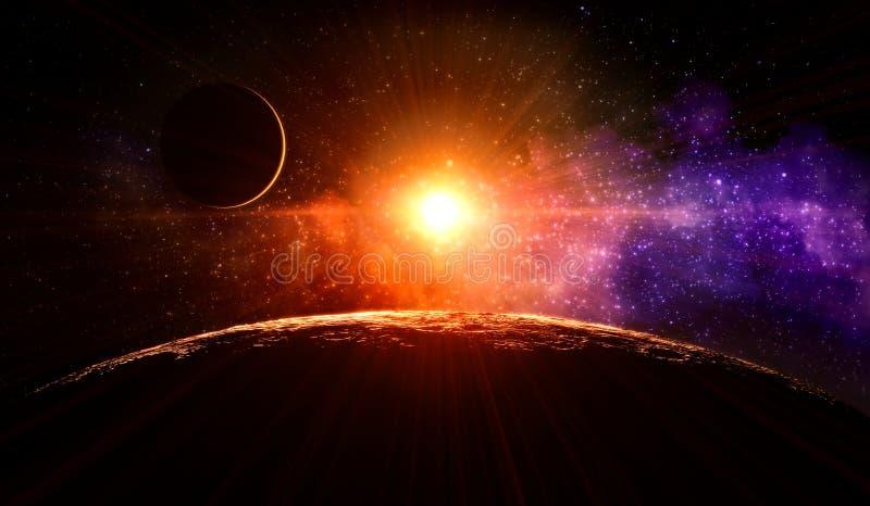 Nascer do sol na lua foto de stock royalty free
