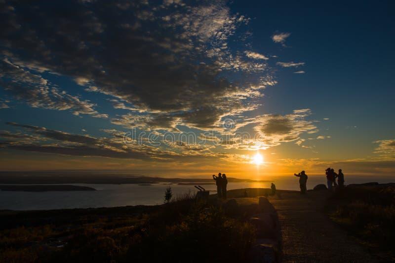Nascer do sol no parque nacional do Acadia fotografia de stock royalty free