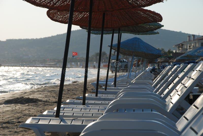 Nascer do sol na praia fotos de stock