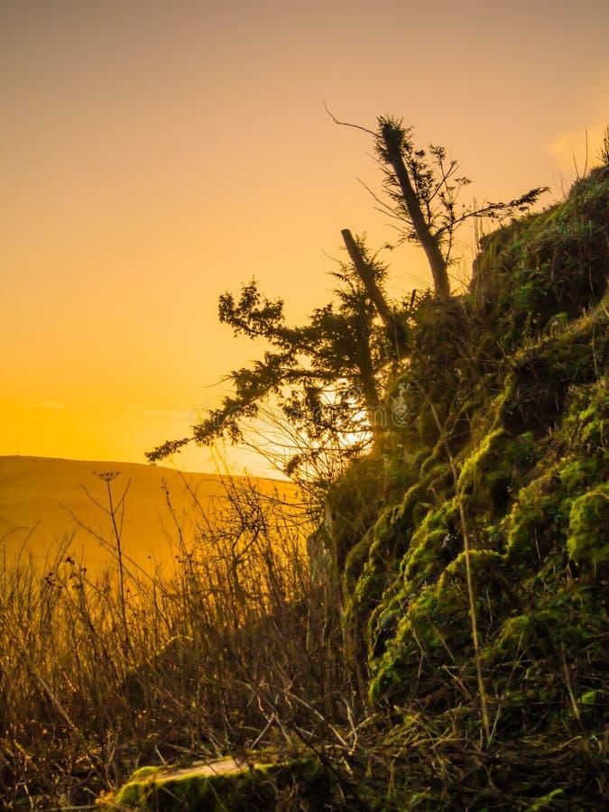 Nascer do sol nas beiras escocesas imagens de stock