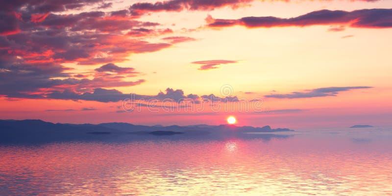 Download Nascer Do Sol Nebuloso Do Lago Mountain Foto de Stock - Imagem de reflexão, alvorecer: 29839046