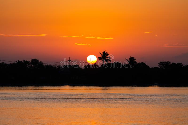 Nascer do sol no ano novo foto de stock royalty free