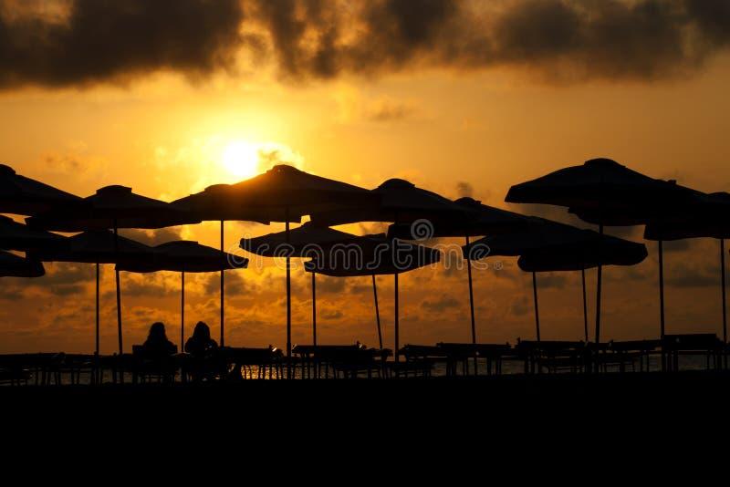 Nascer do sol no beira-mar imagens de stock royalty free