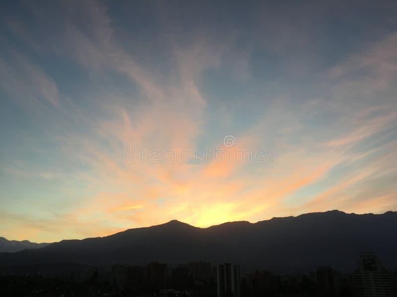 Nascer do sol no Chile fotos de stock