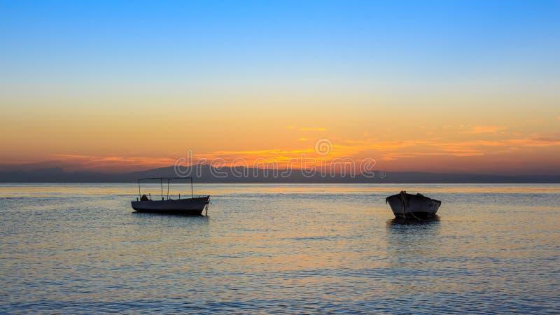 Nascer do sol no Golfo de Aqaba Dahab foto de stock royalty free