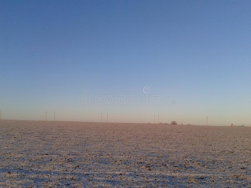 Nascer do sol no inverno fora de Belgorod fotos de stock royalty free