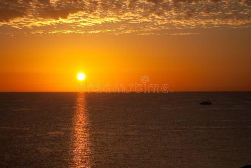 Nascer do sol no Mar Vermelho fotografia de stock