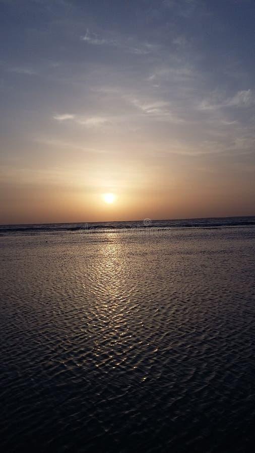 Nascer do sol no Mar Vermelho, Egito imagem de stock