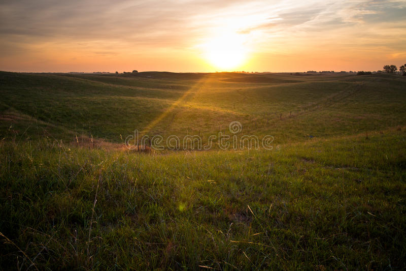 Nascer do sol no Nebraska Sandhills imagem de stock royalty free