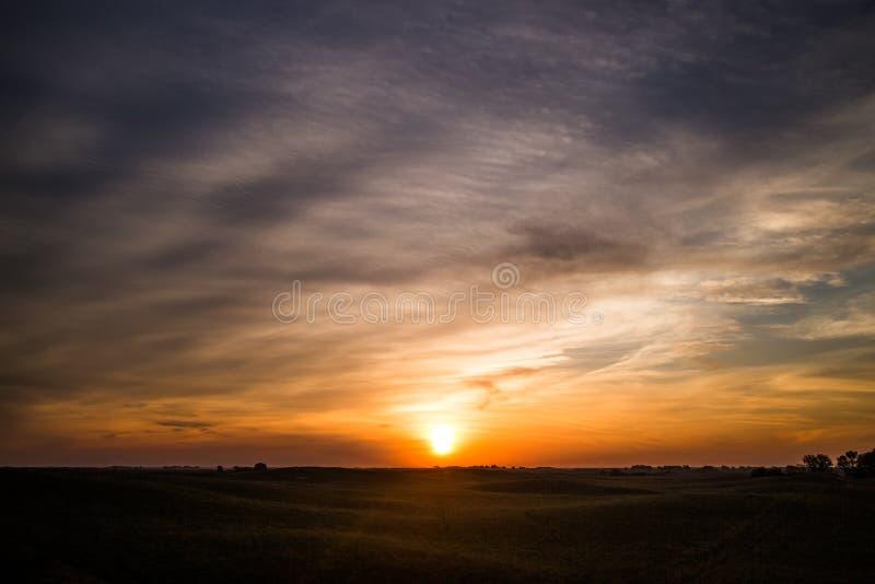 Nascer do sol no Nebraska Sandhills fotos de stock royalty free