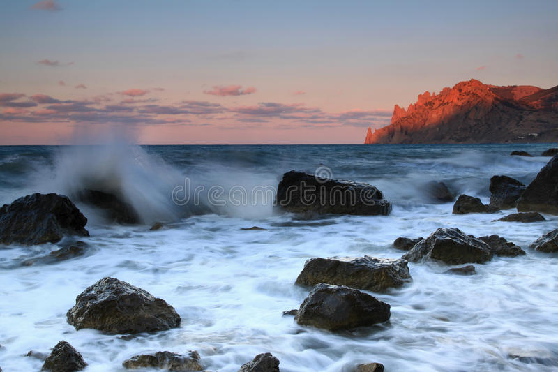 Nascer Do Sol No Oceano Fotografia de Stock