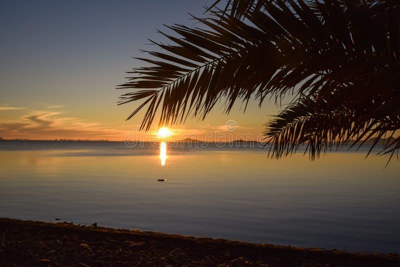Nascer do sol no paraíso fotografia de stock