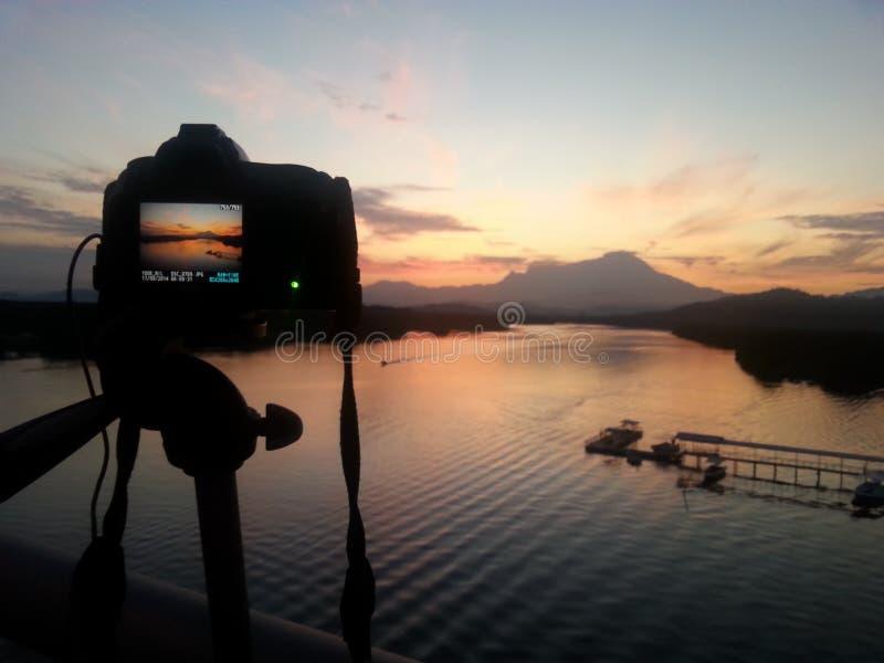 Nascer do sol o Monte Kinabalu foto de stock royalty free