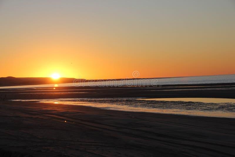 Nascer do sol sobre o mar de Cortez, EL Golfo, México imagem de stock