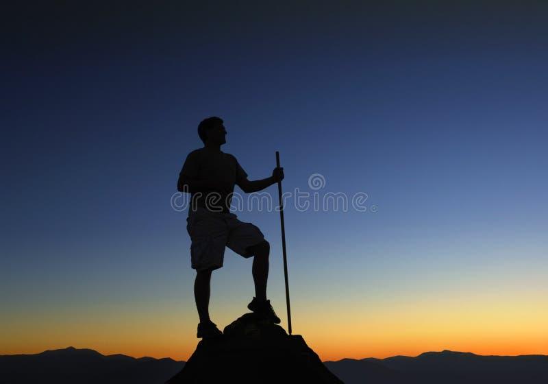 Nascer do sol superior da montanha foto de stock royalty free