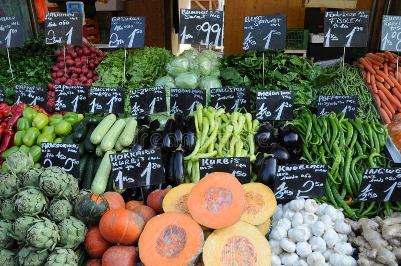 Naschmarkt. Fresh vegetables on Naschmarkt in Vienna, Austria royalty free stock photography